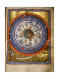 """Illumination from Hildegard Von Bingen's """"Liber Divinorum Operum"""" or """"Book of Divine Works"""", in… Reproduction procédé giclée"""
