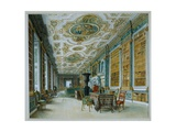 The Old Ballroom, Now the Library, Chatsworth Giclee Print by William Henry Hunt