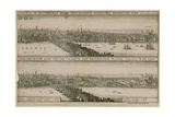 London, before and after the Great Fire Lámina giclée por Wenceslaus Hollar