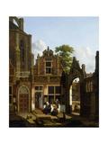 A Dutch Courtyard, 1822 Giclée-Druck von Jan Hendrik Verheyen