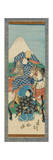 Scroll (Kakemono) Depicting a Figure on Horseback with Mt. Fuji in the Background, before 1880 Giclee-trykk