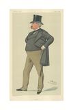 Mr Arthur Loftus Tottenham, Lofty, 15 April 1882, Vanity Fair Cartoon Reproduction procédé giclée par Sir Leslie Ward