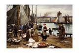 Unloading the Catch, 1881 Reproduction procédé giclée par Victor Gabriel Gilbert