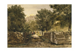 A Road in North Wales with Figures, C.1840 Giclee Print by David Cox