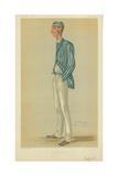 Mr Markham Spofforth, the Demon Bowler, 13 July 1878, Vanity Fair Cartoon Reproduction procédé giclée par Sir Leslie Ward