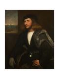 Portrait of a Venetian Nobleman Giclée-tryk af Giovanni de Busi Cariani