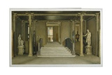 North Entrance Hall at Chatsworth House Giclee Print by William Henry Hunt