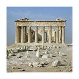 The Eastern Facade of the Parthenon Giclée-tryk