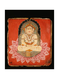 Votive Painting Depicting a Jina Seated on an Elaborate Throne Giclee Print