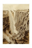 The Victoria Fall, Zambesi, from the East End of the Chasm Giclée-tryk af Thomas Baines