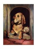 Dignity and Impudence Giclée-tryk af Edwin Henry Landseer