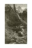 Twilight in the Wood Giclee Print by John Samuel Raven