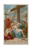 Jesus Is Taken Down from the Cross and Restored to His Mother. the Thirteenth Station of the Cross Giclée-tryk