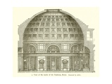 Visit of the Inside of the Pantheon, Rome Giclée-tryk