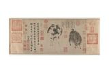 Sheep and Goat, Yuan Dynasty, C.1300 Impressão giclée por Zhao Meng-Fu