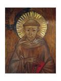 Portrait of St. Francis, C.1285 (Detail) Giclée-tryk af Giovanni Cimabue