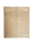 Farewell Address of the Late General George Washington, 17th September 1796 Giclee Print