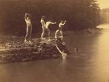 Study for the Swimming Hole, 1883 Fotografisk trykk av Thomas Cowperthwait Eakins