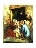 French Peasants Finding their Stolen Child, 1859 Giclee Print by Philip Hermogenes Calderon
