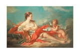 Erato, the Muse of Love Poetry Giclee Print by Francois Boucher