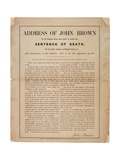 Address of John Brown to the Virginia Court, When About to Receive the Sentence of Death, for His… Giclee Print