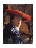 Girl with a Red Hat, C.1665 Giclée-Druck von Johannes Vermeer