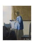 Woman Reading a Letter, C.1662-63 Giclée-Druck von Johannes Vermeer