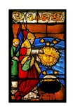 Window W2 Depicting the Creation of the Sun and Moon Giclee Print