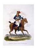 Uniform of a Private of the 15th or King's Light Dragoons (Hussars), from 'Costume of the British… Giclee Print by Charles Hamilton Smith