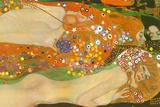 Gustav Klimt Water Snakes Friends II Plastic Sign Placa de plástico