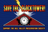 Save the Clocktower Movie Plastic Sign Placa de plástico