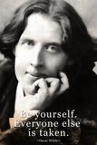 Oscar Wilde Be Yourself Quote Plastic Sign Signe en plastique rigide