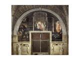The Liberation of Saint Peter, Stanza Di Eliodoro, 1514 Reproduction procédé giclée par  Raphael