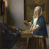 Woman Holding a Balance, C.1664 Giclée-Druck von Johannes Vermeer