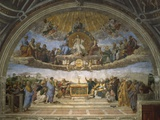 The Disputation of the Holy Sacrament, from the Stanza Della Segnatura, 1509-10 Giclée-tryk af Raphael,