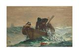 La rete per le aringhe, 1885 Stampa giclée di Winslow Homer