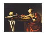 St. Jerome, 1606 Giclée-tryk af  Caravaggio