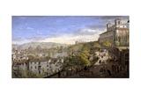 View of the Villa Medici, Rome Giclée-Druck von Gaspar van Wittel