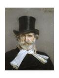 Portrait of Giuseppe Verdi, 1880s Giclée-tryk af Giovanni Boldini