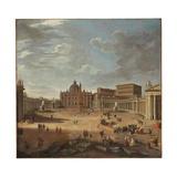 View of St. Peter's Square, Rome Reproduction procédé giclée par Giovanni Paolo Pannini