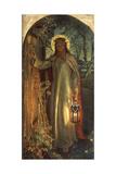 Light of the World, C.1851-53 Giclée-Druck von William Holman Hunt