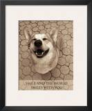 Smile and the World Smiles with You Posters por Jim Dratfield