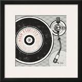 Vintage Analog Record Player Print by Michael Mullan