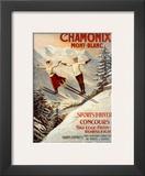 Chamonix, Mont Blanc Posters por Francisco Tamagno