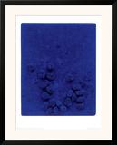 Blaues Schwammrelief (Relief Éponge Bleu: RE19), 1958 Poster by Yves Klein