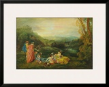 Love in the Country Posters by Antoine Watteau