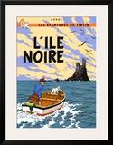 L'Ile Noire, c.1938 Print by  Hergé (Georges Rémi)