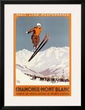 Chamonix, Mont Blanc Pôsters por  Alo (Charles-Jean Hallo)