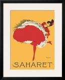 Saharet - Dance Performance Advertisement, c.1902 Framed Giclee Print by Maurice Biais