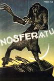 Nosferatu Movie Max Schreck Gustav von Wangenheim 1922 Plastic Sign Placa de plástico